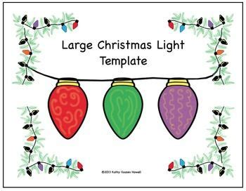 free large christmas light template for your students to