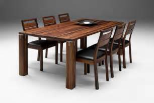 Solid wooden dining table 6 chair set clickbd large image 0