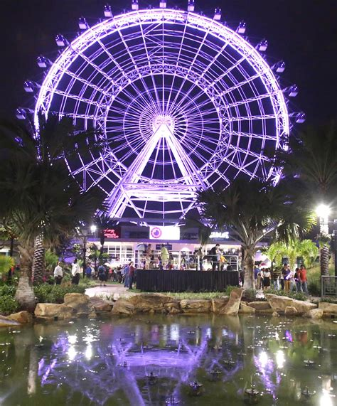 the lights orlando before and after orlando eye lights up for