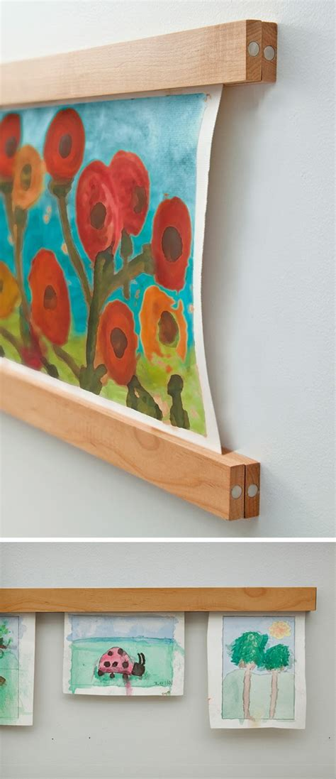 how to hang artwork ways to display kids art reasons to skip the housework