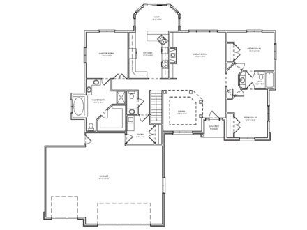 luxury two bedroom house plans cottage farm houses cottage style ranch house plans split