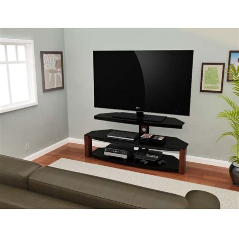 55 inch tv cabinet z line designs rhine 55 inch corner tv stand black and