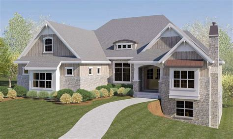 house plans with garage in basement craftsman house plan with rv garage and walkout basement 290032iy architectural designs