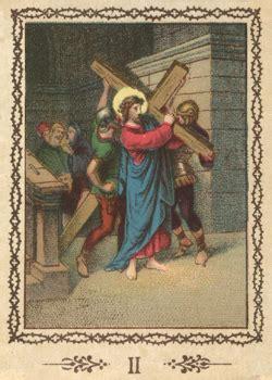 aiuto gesu a portare la croce via crucis con