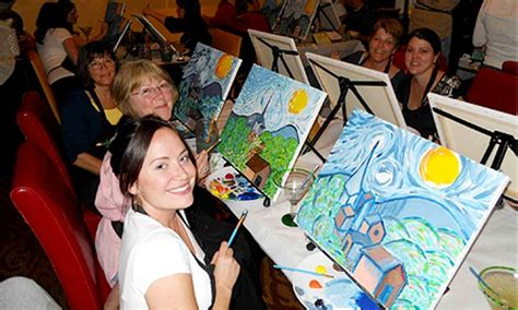 paint nite groupon milwaukee painting class wine and canvas detroit groupon