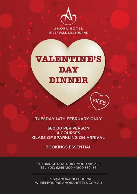 valentines day dinner s day melbourne ideas for a lunch or dinner