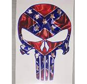 REBEL FLAG Punisher Skull Decal