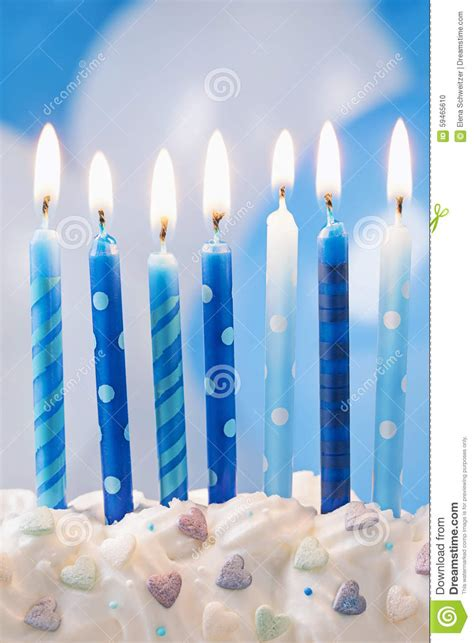 birthday candles  balloons stock photo image