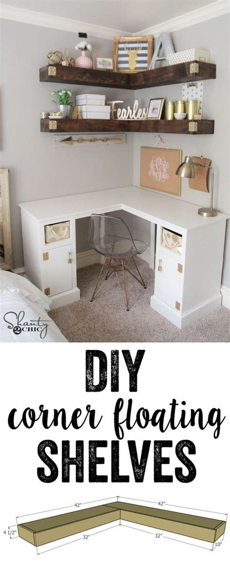 Diy Floating Corner Desk by 25 Best Ideas About Floating Corner Shelves On Corner Shelves Diy Corner Shelf And