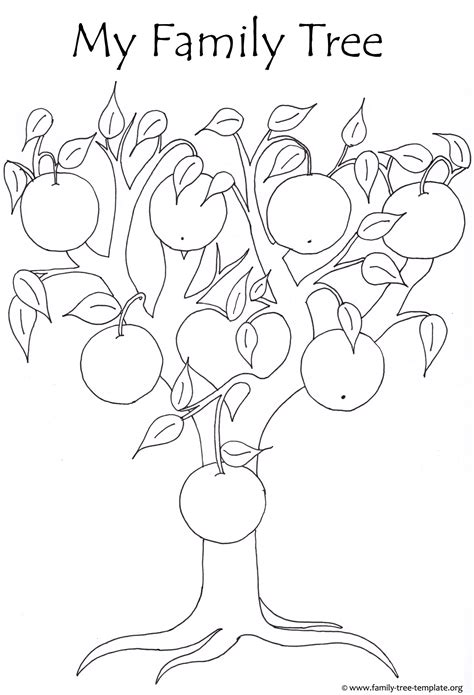 Free Printable Apple Tree Coloring Pages Coloring Page Apple Tree Tree Template To Print