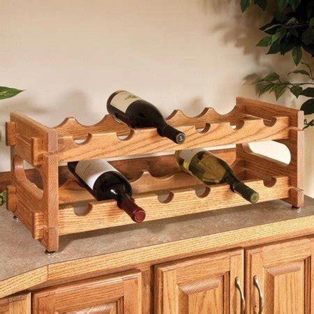 woodworking project paper plan  build stackable wine