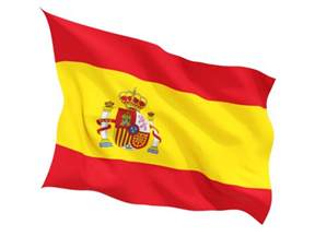 fluttering flag illustration of flag of spain