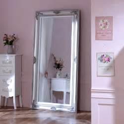 shabby chic floor mirror large ornate silver wall floor mirror shabby vintage