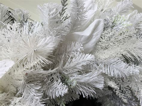 white flocked artificial holiday wreath wreaths by julie