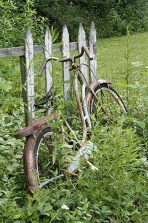 garten ideen für katzen fahrrad windrad gartenstecker windspiel bike blau metall