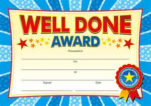 well done certificate template printable helper award certificate childrens awards