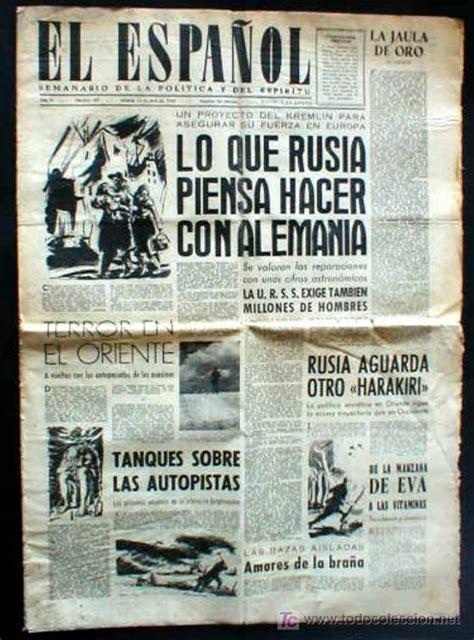 modalidad 44 trabajadores independientes libros y revistas periodico el espa 241 ol 1945 161 161 161 comprar otras revistas y
