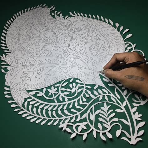 Paper Cutting Craft - papercut indian papercutting paper by