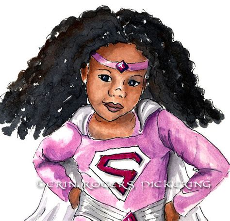 new born free super afro cut afro american bob african american super girl with natural hair 8x10 art print