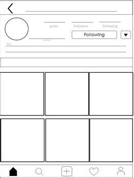 Social Media Project Templates Editable Versions Included Instagram Style Instagram Template For Students