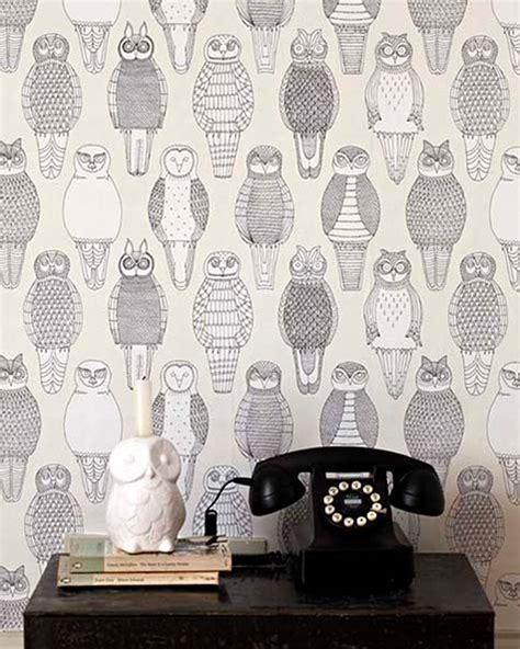 owl bedroom wallpaper abigail edwards owl wallpaper design sponge