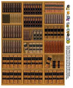 Bookshelf Dollhouse Printable Library Bookshelves Would Be Great For
