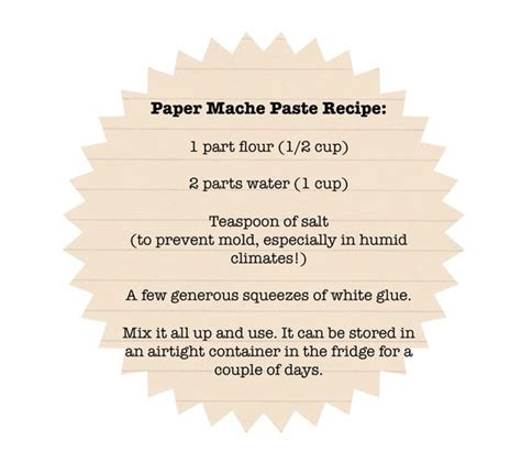 How To Make Glue For Paper Mache With Flour - papier mache paper mache paste and salts on