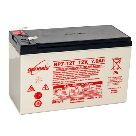 enersys genesis 12v 7ah f2 replacement for dsc bd7 12 home
