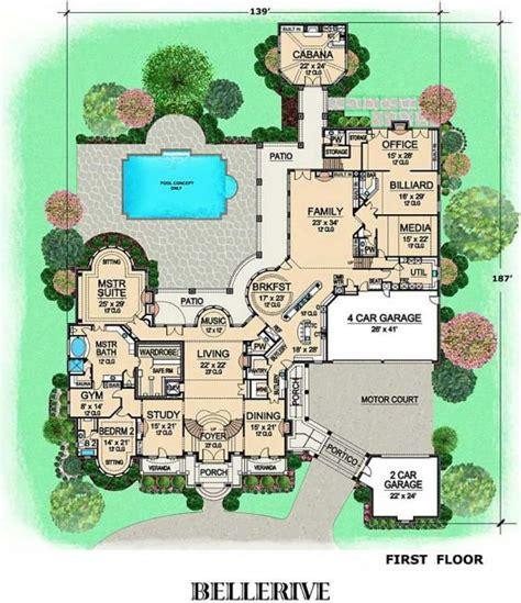big home plans bellerive house plan first floor plan floor plans