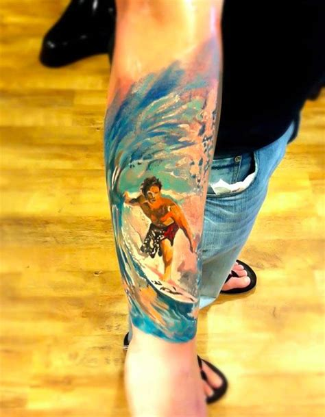 watercolor tattoo halifax 1000 ideas about surfer on wave