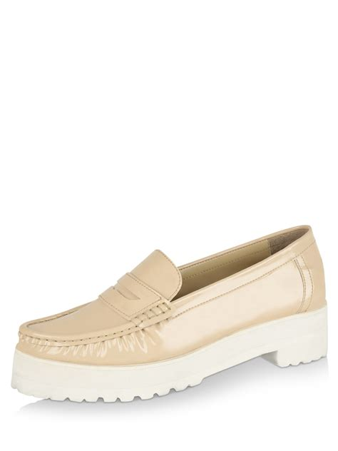 chunky loafers buy koovs chunky heel loafers for s brown