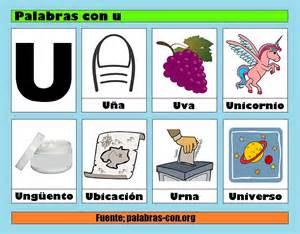 O U O U U O U palabras con la letra u u