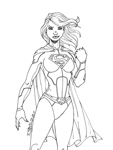 supergirl batgirl coloring pages printable supergirl coloring pages to download and print for free