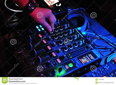 dj mix dj mix and playing with pioneer mixer and console