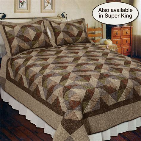 Patchwork Country Quilts - country cottage cotton patchwork quilt bedding