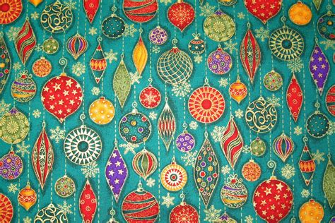 vintage christmas ornaments wallpaper