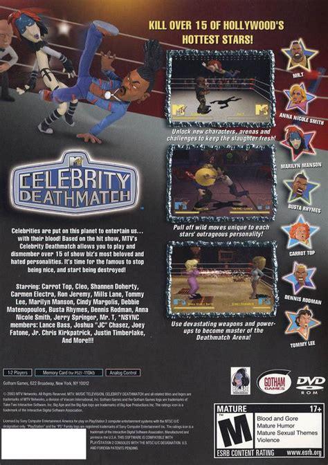 celebrity deathmatch game xbox 360 mtv s celebrity deathmatch box shot for playstation 2