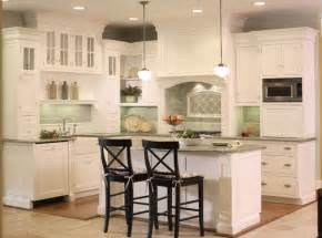 White kitchen with bead board and green tile backsplash traditional