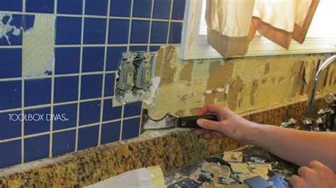 How To Tile A Kitchen Floor Without Removing Cabinets by Tile Removal 101 Remove The Tile Backsplash Without