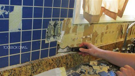 Tile Removal 101: Remove the Tile Backsplash Without