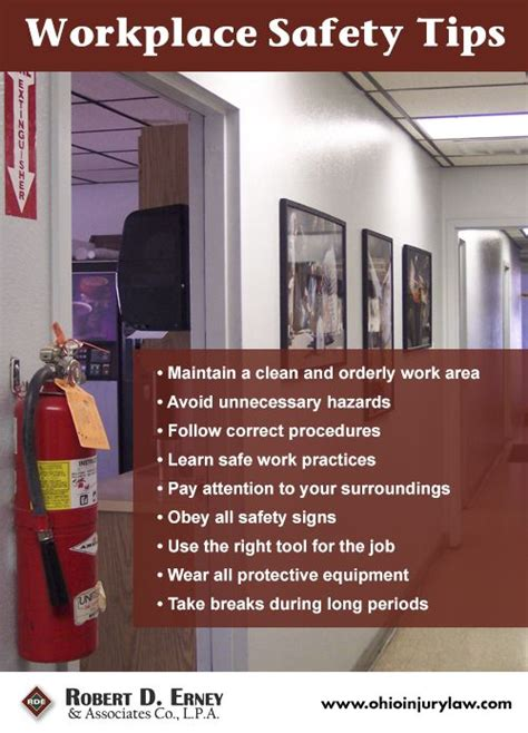 workplace safety tips safety and security tips