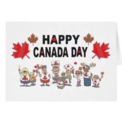 happy canada day greeting card zazzle