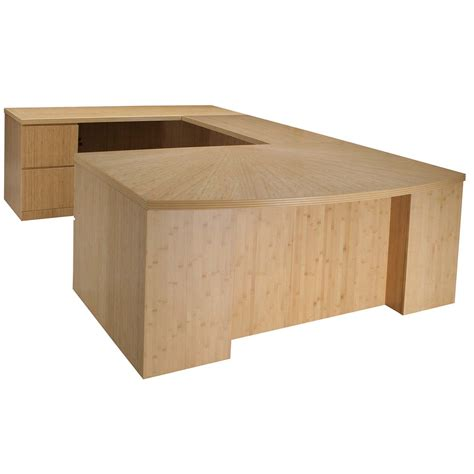 Bamboo Reception Desk New Left Return Inlay Executive U Shape Desk Only Bamboo National Office Interiors