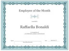 Free Employee Of The Month Certificate Template by Employee Of The Month Certificate Template Certificate