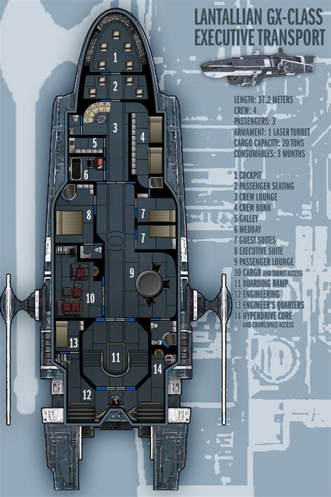 spaceship floor plans lantallian gx class exec transport by boomerangmouth on
