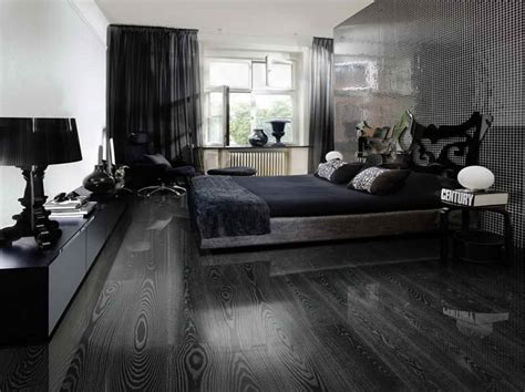 Hardwood Floor Bedroom Ideas by Black Hardwood Flooring As An Excellent Combination Of