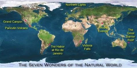 7 wonders of africa map the 7 wonders of the world mnn nature
