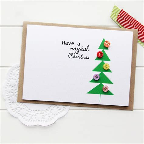 Christmas Tree Shop Gift Card - 4 christmas cards geometric christmas tree buttons one of a kind bulk the little