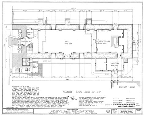 mission santa clara de asis floor plan mission san buenaventura floor plan