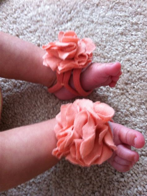 diy project baby barefoot sandals 1 plus 1 equals 9